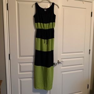 Blue & Green Maxi Dress